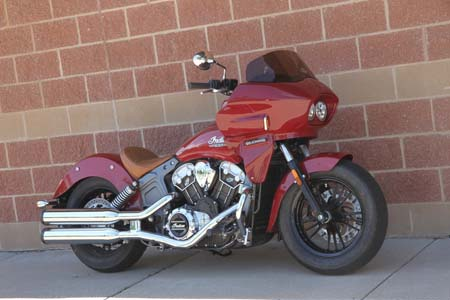 Indian scout with fairing viewed from the side
