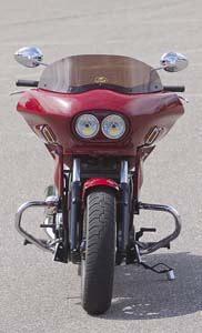indian scout with fairing, full front view