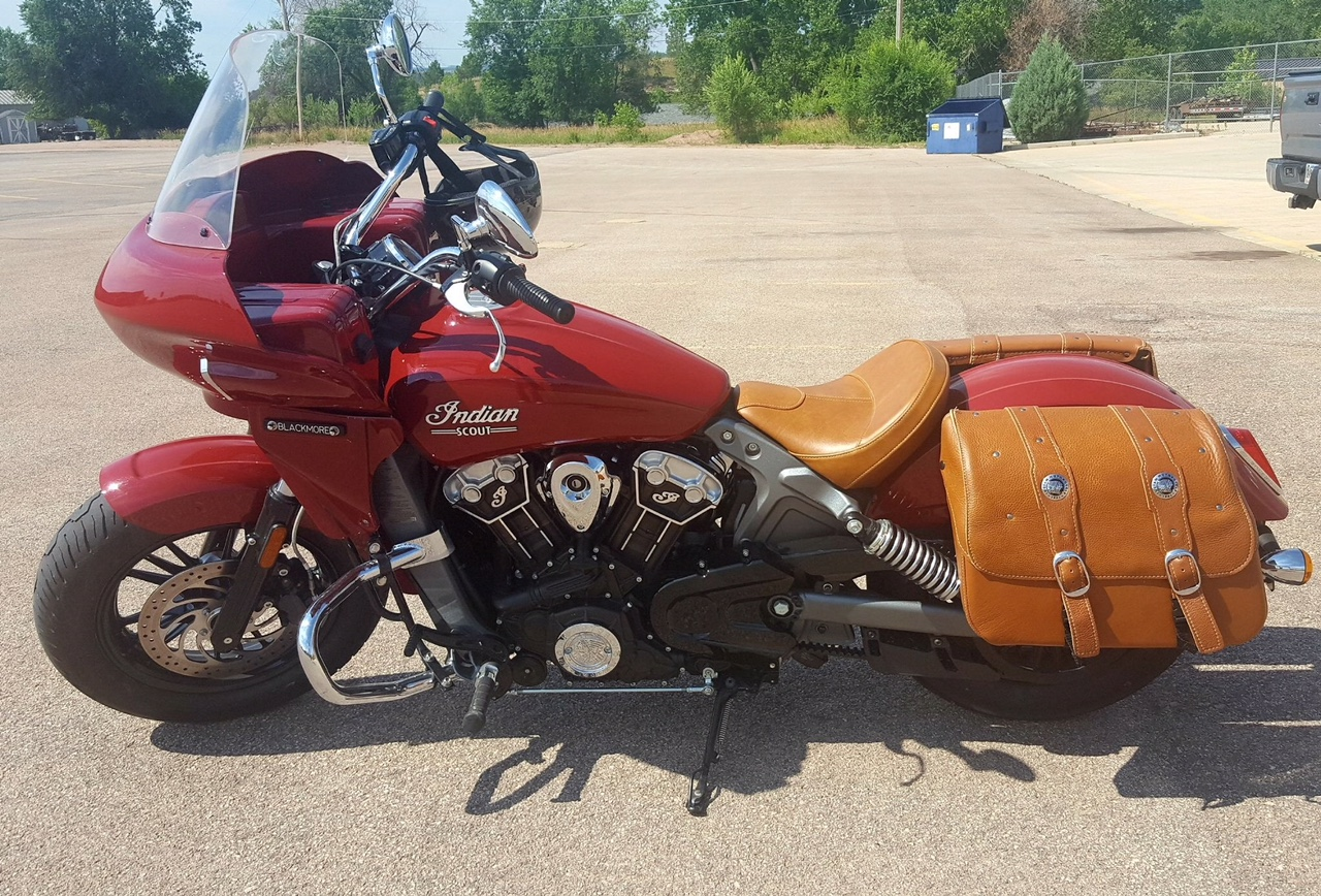 indian scout with a touring style fairing
