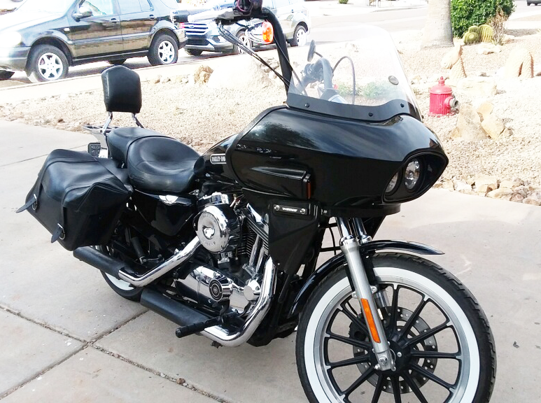 sportster with dual headlight fairing