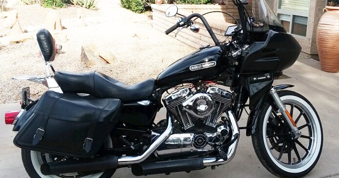 Sportster with touring style fairing