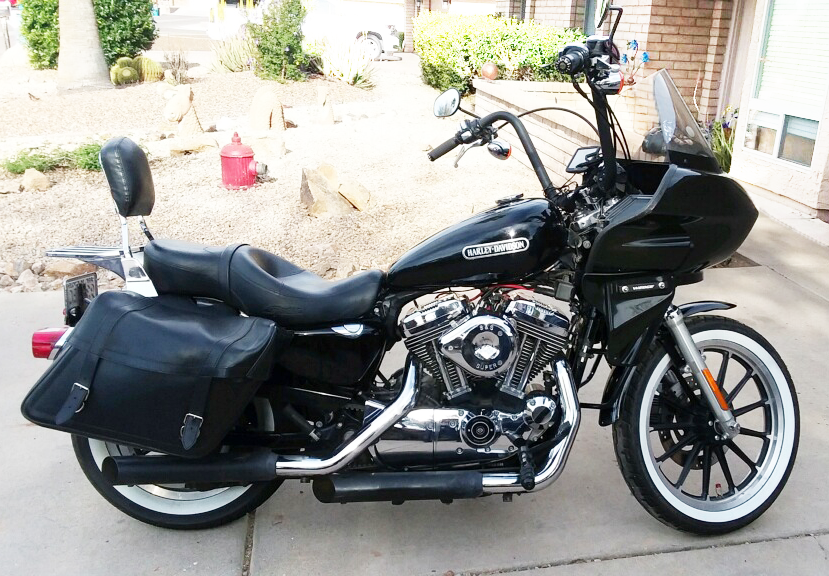 Harley Davidson Sportster with fairing