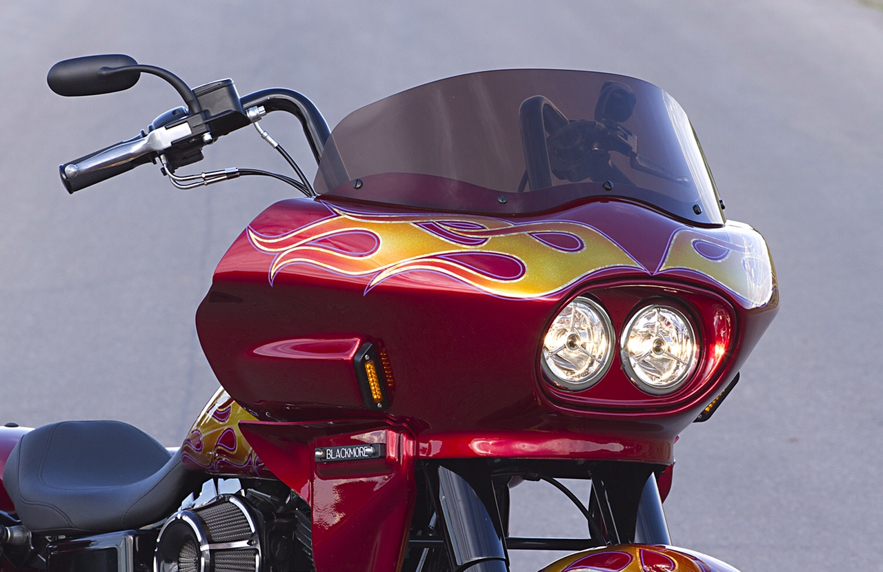 Dyna Switchback with a fairing   Wedge Fairing