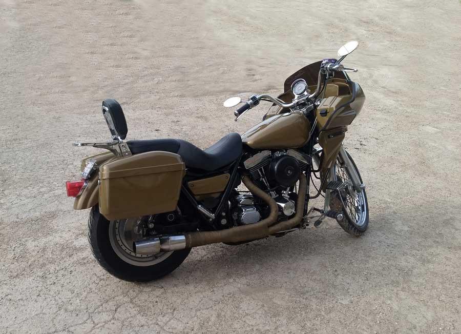 Harley FXR with fairing