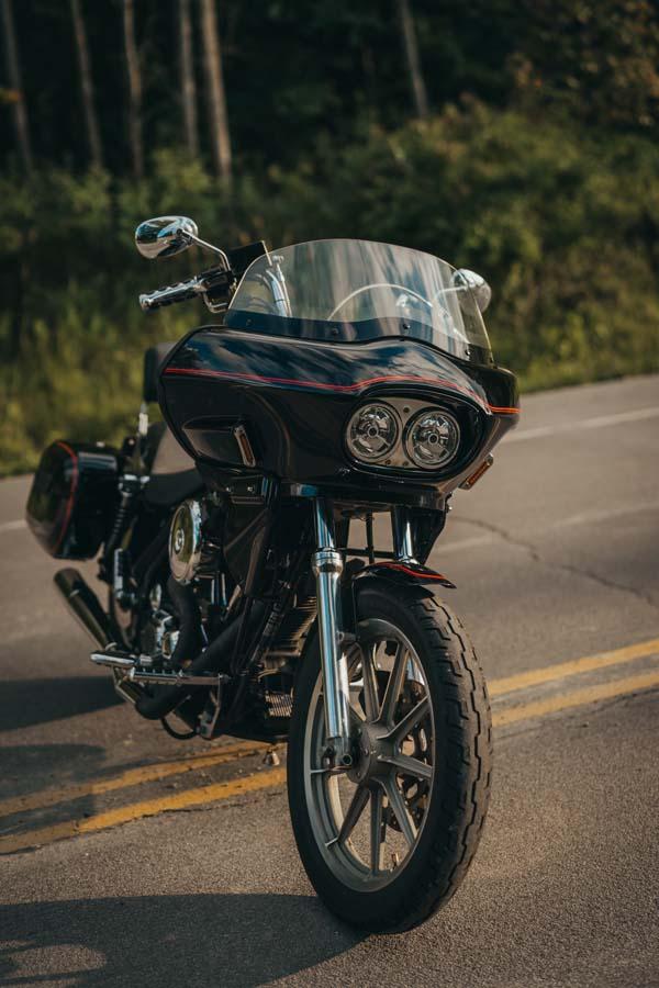 Harley FXR dual headlight fairing