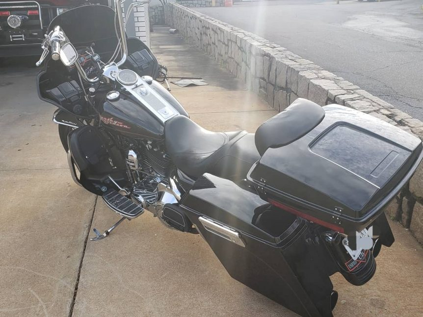 Harley Road King with Fairing - viewed from rear