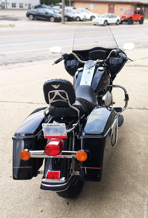 road king with fairing from behind
